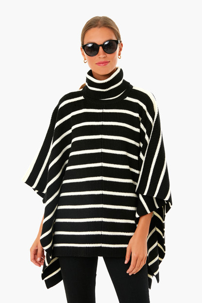 black hudson sweater poncho