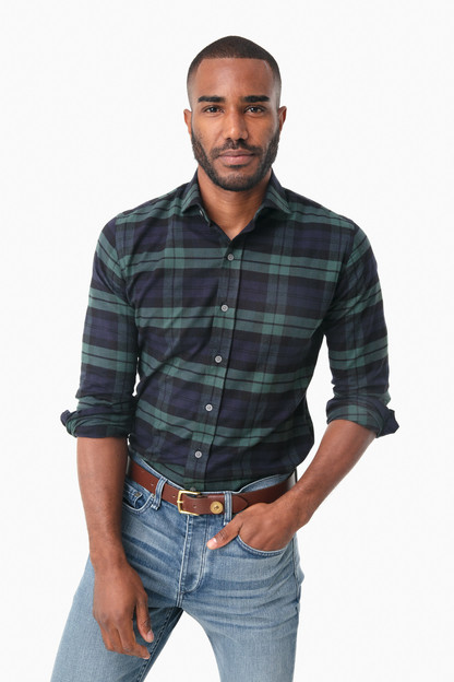 navy gibbs flannel