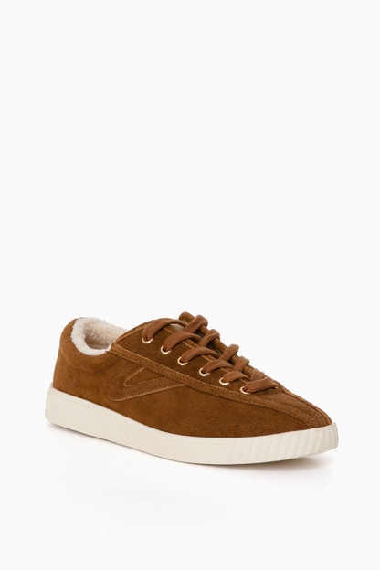 brown shearling nylite35plus sneakers