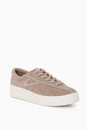 brown perf nylite10bold sneakers