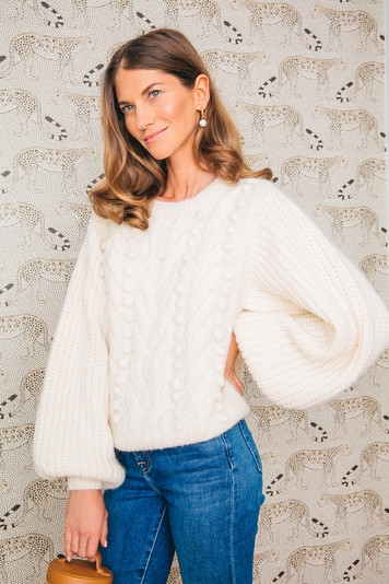 ivory charlotte sweater