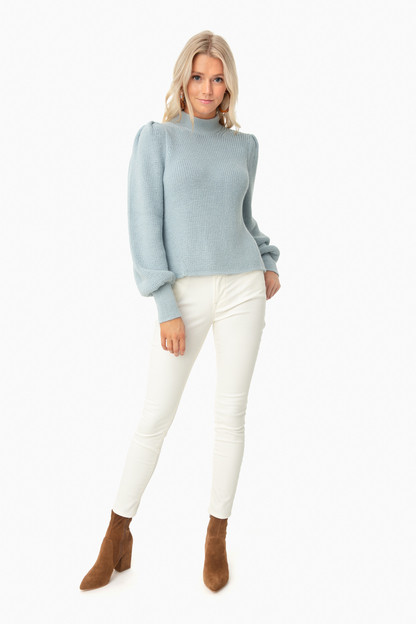 powder blue mia sweater