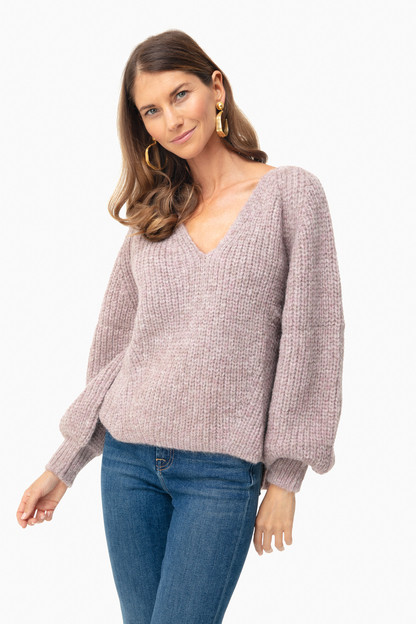 pink heather tess sweater