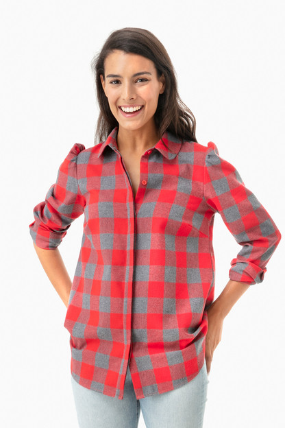 red plaid saranac shirt