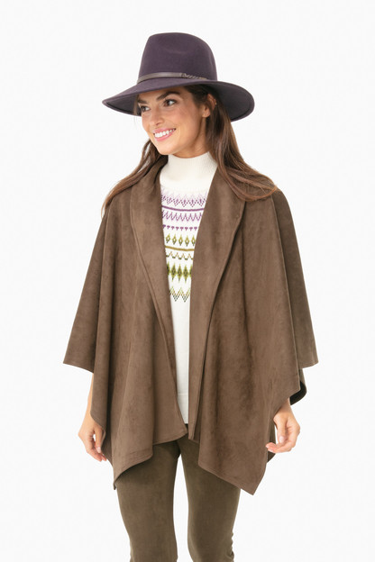 lillian suede poncho