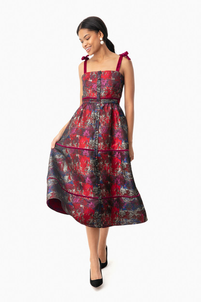 jacquard grace dress