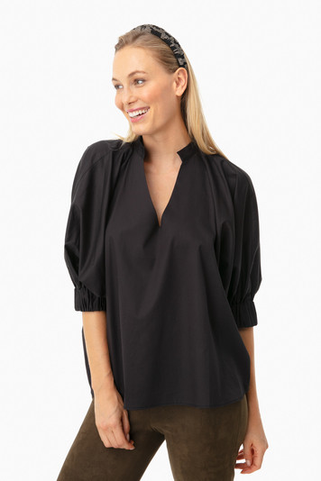 black medina blouse