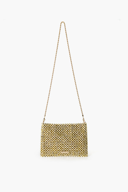 Champagne Mia Beaded Clutch