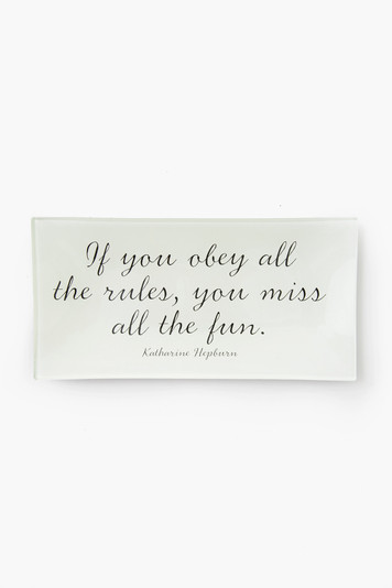 if you obey all the rules decoupage tray