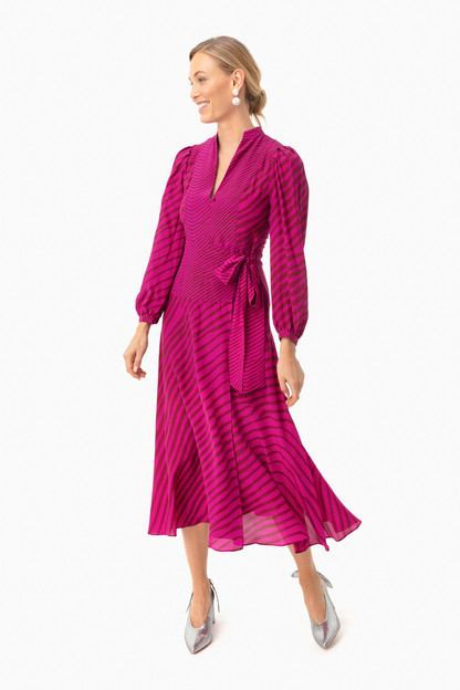 zebra pink marcela dress