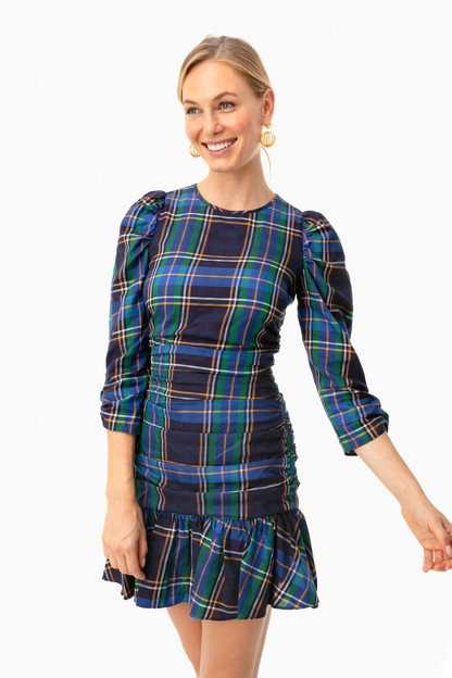 Blue Plaid Raven Dress
