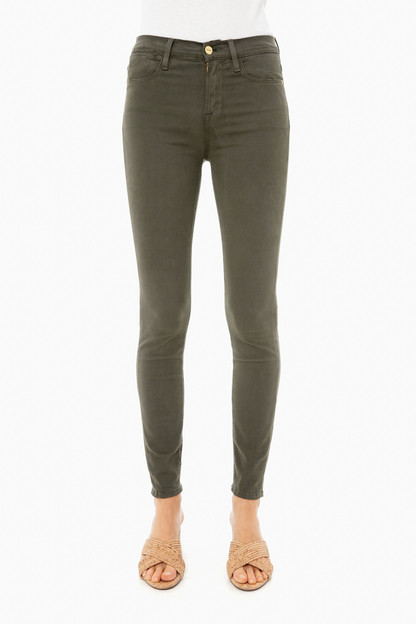 deep moss le high skinny sateen jean