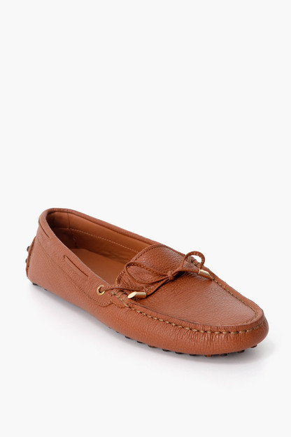 cognac leather driving moccasin