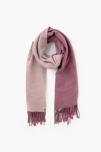 lilac two tone cashmere blended scarf