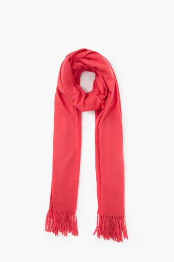 coral soft basic cashmere scarf