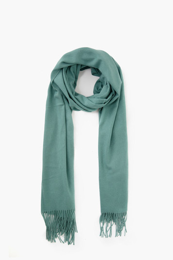 emerald soft basic cashmere blended scarf