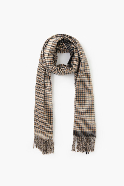hunter two tone classic checker scarf