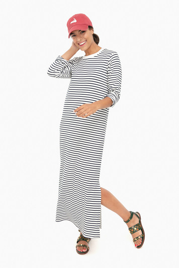 navy striped jaya dress