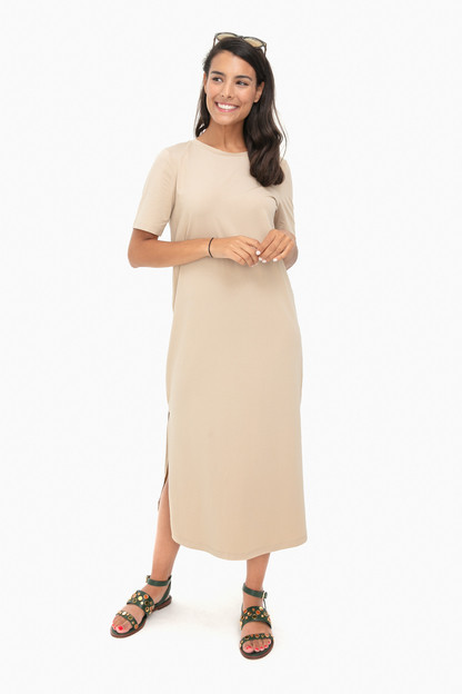 taupe dani dress