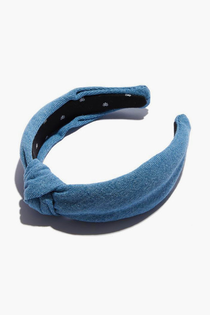Light Denim Knotted Headband