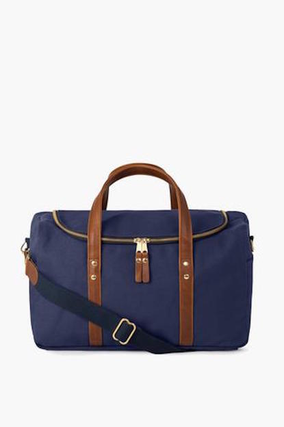 Navy Heritage Commuter Duffel If ordered with a monogram, this item will not arrive for Christmas.