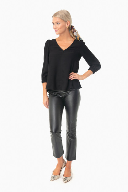 black hollis blouse