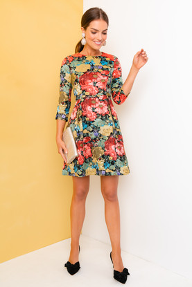 multi floral audrey dress