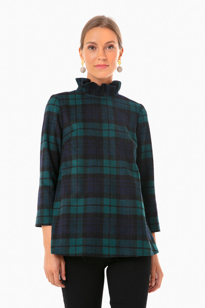 blackwatch plaid faye blouse
