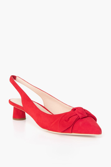 laura bow slingback pumps