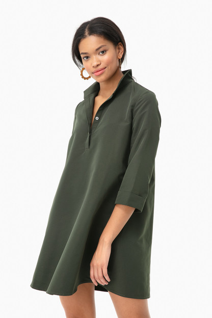 dark green megan taffeta dress