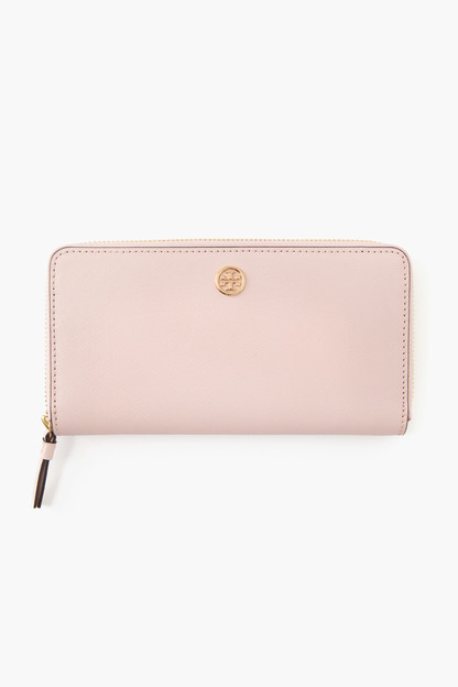 shell pink robinson zip continental wallet