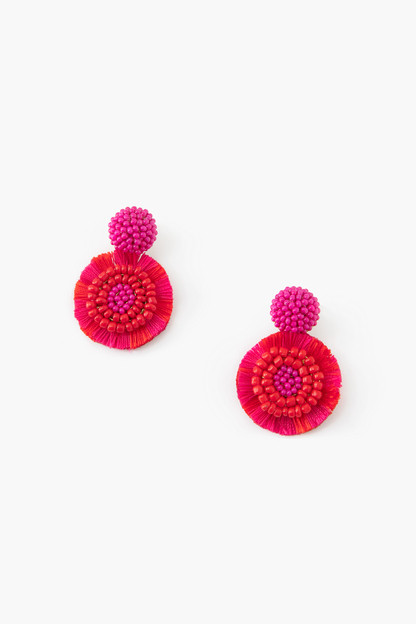 coral martinique earrings