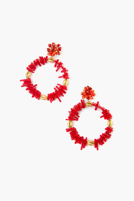 red granada earrings