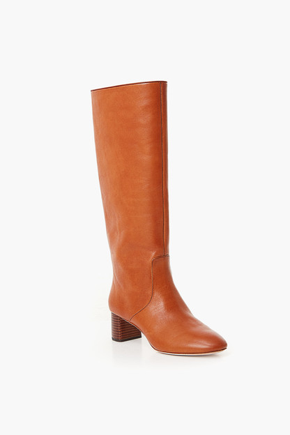 cognac gia tall boot