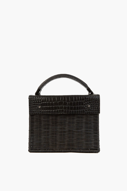 black kuai croco bag