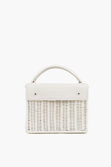 white kuai croco bag