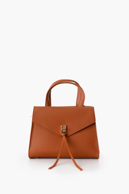 bella vegan leather flap bag