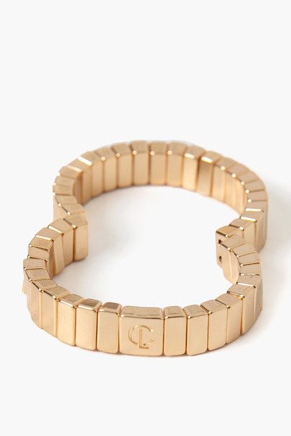 mini gold bar bracelet