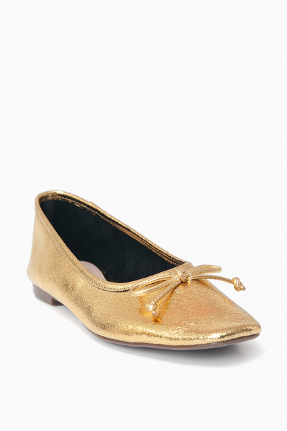 Ouro Gold Arissa Flats Take 20% off with code RINGRING