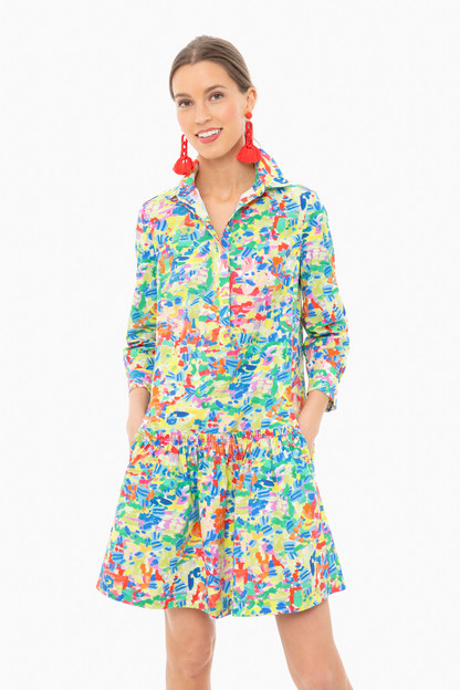 summer confetti tilly shirt dress
