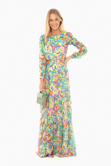 summer confetti isabel long dress