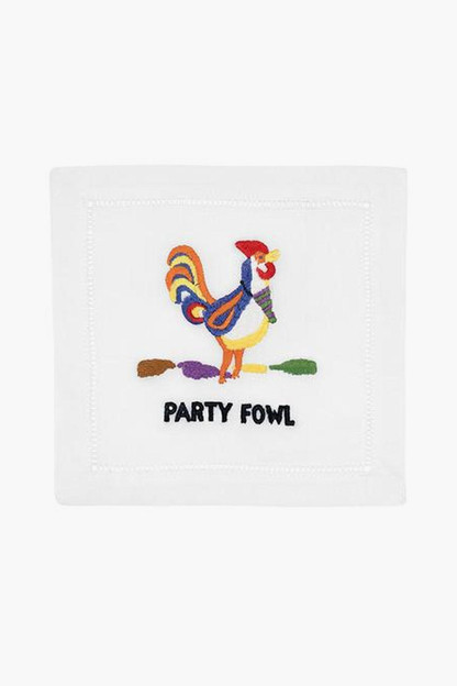 party fowl cocktail napkins (set of 4)