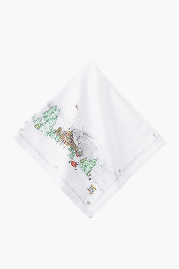 berry & thread north pole napkin (set of 4)