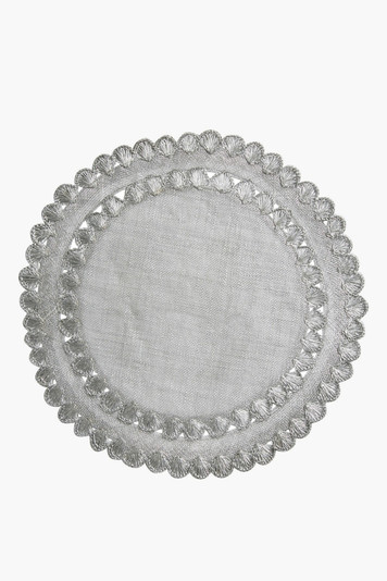 isadora silver placemat (set of 4)