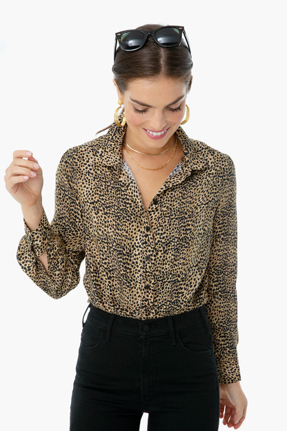 little cheetah ribbons blouse