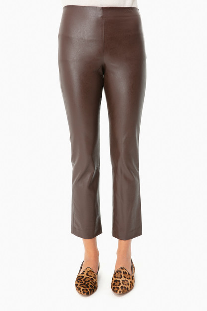 brown leather ashford pants