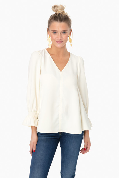 ivory easton silk blouse