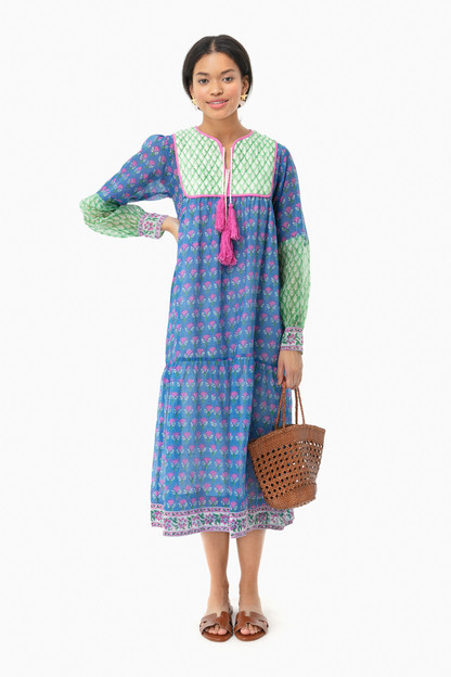 blue and pink jodphur dress