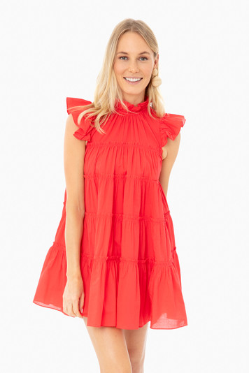 candy red tiffany dress
