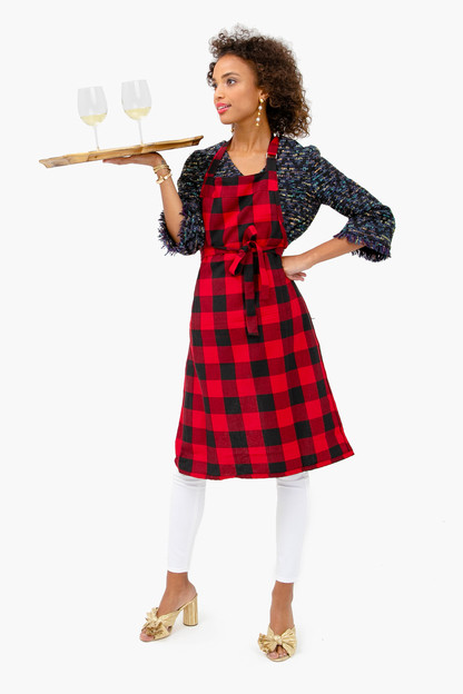red buffalo check apron